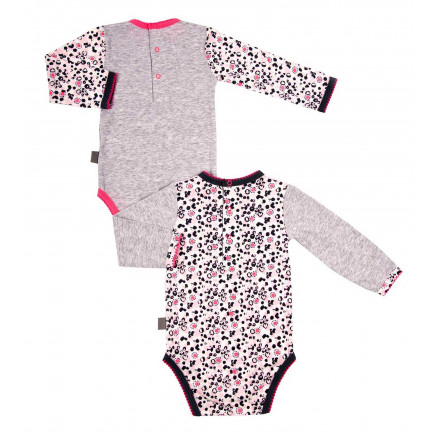 Lot de 2 bodies bébé fille manches longues Happy Inuit
