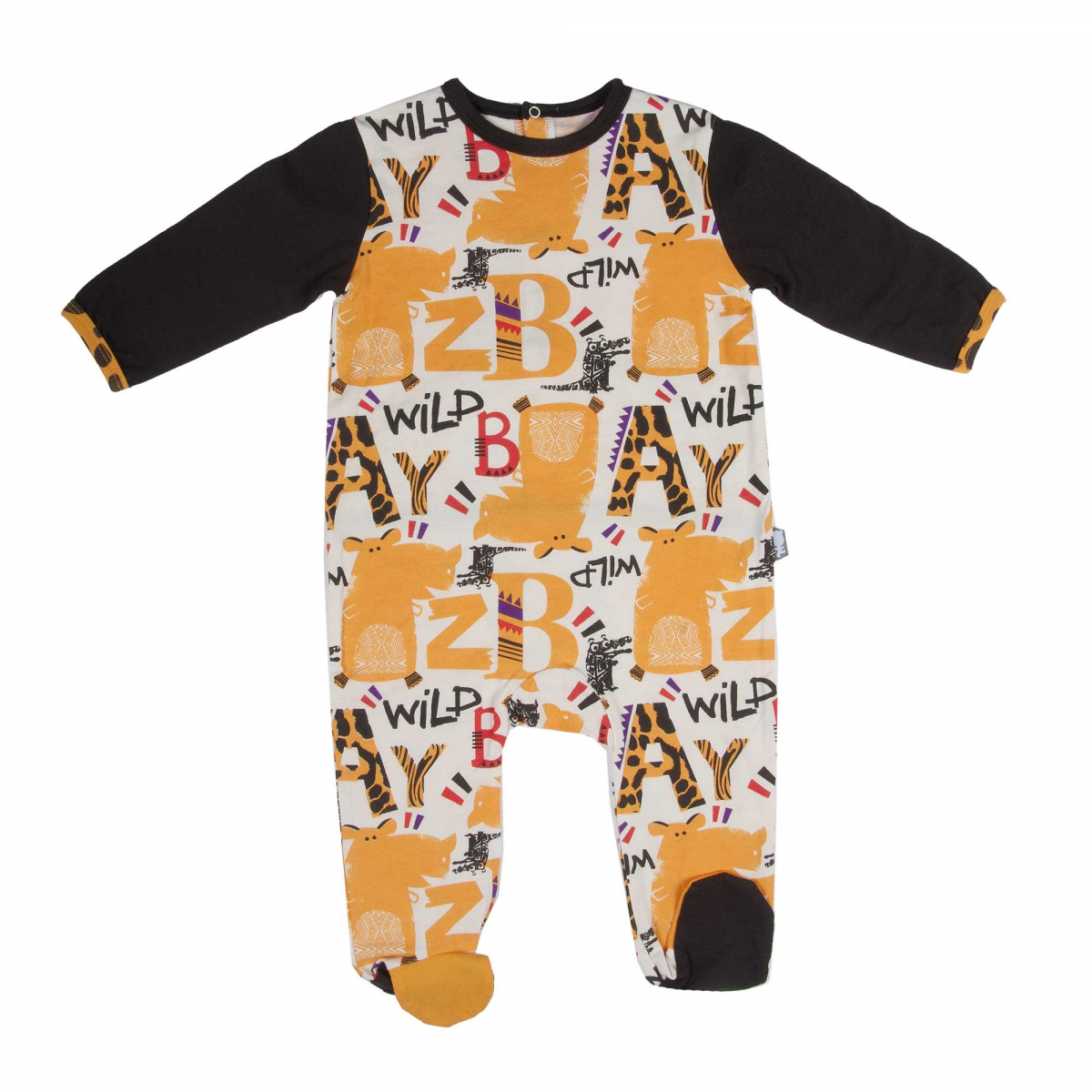 pyjama b b gar on baby wild petit b guin. Black Bedroom Furniture Sets. Home Design Ideas