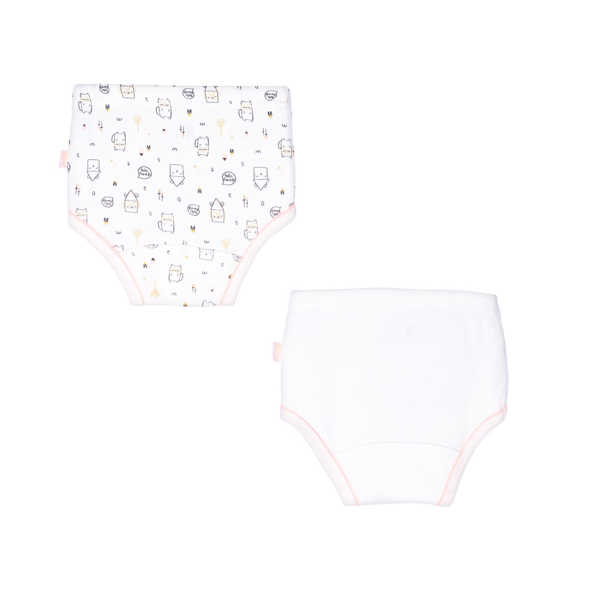 Lot de 2 culottes bébé fille Hello Planet dos