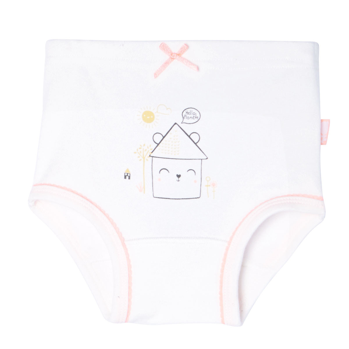 Lot de 2 culottes bébé fille Hello Planet écrue