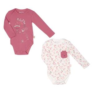Lot de 2 bodies manches longues bébé fille Little Farmer