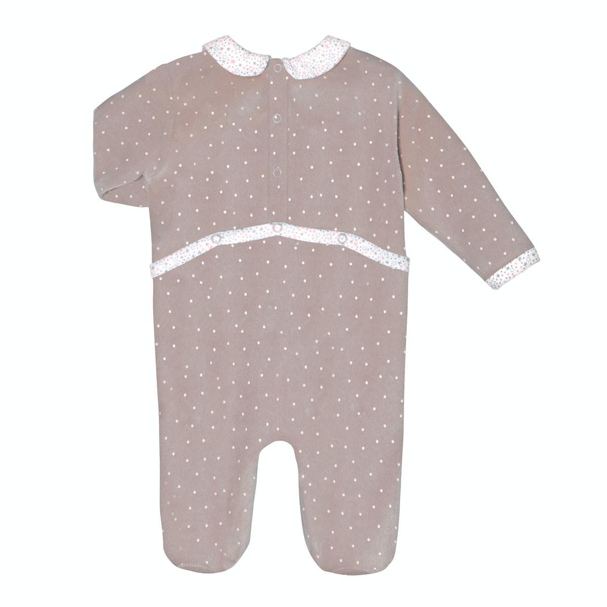 Pyjama velours bébé fille Macaron dos