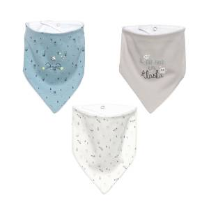 Lot de 3 bavoirs foulards bébé garçon Mr Freeze
