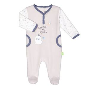 Pyjama velours bébé garçon Mr Freeze