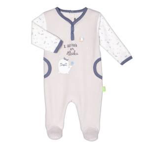Pyjama velours bébé garçon Mr Freeze