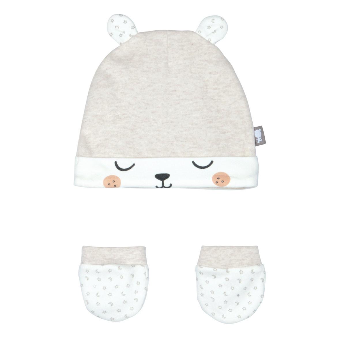 Bonnet + moufles anti-griffures bébé mixte Nuit Etoilée 0/3M