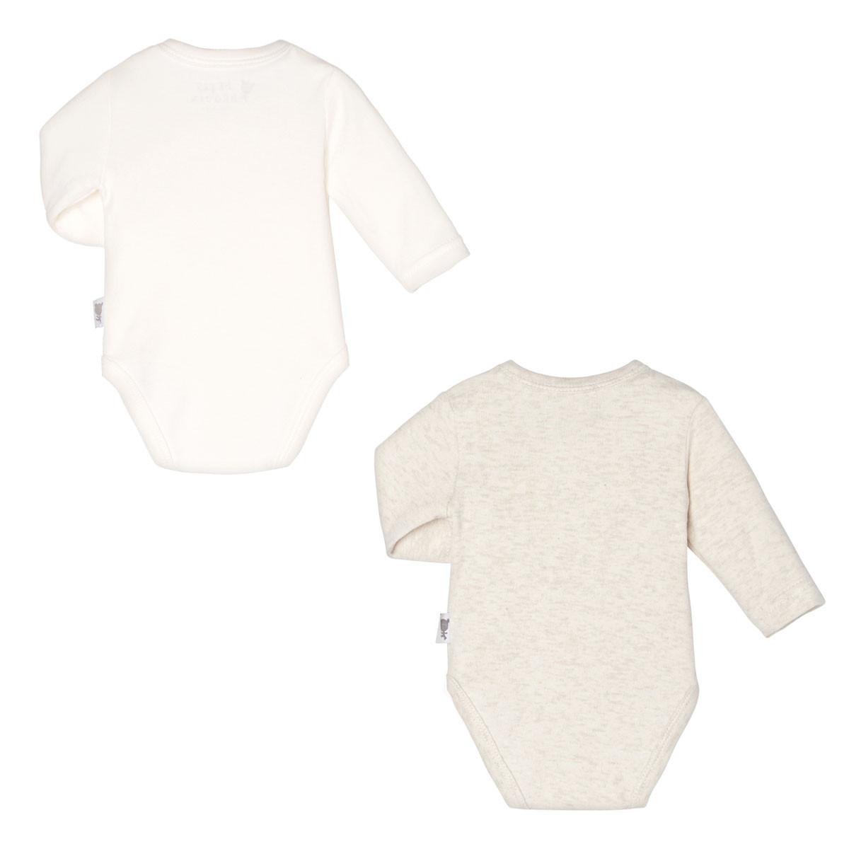 Lot de 2 bodies croisés manches longues bébé mixte Nuit Etoilée dos