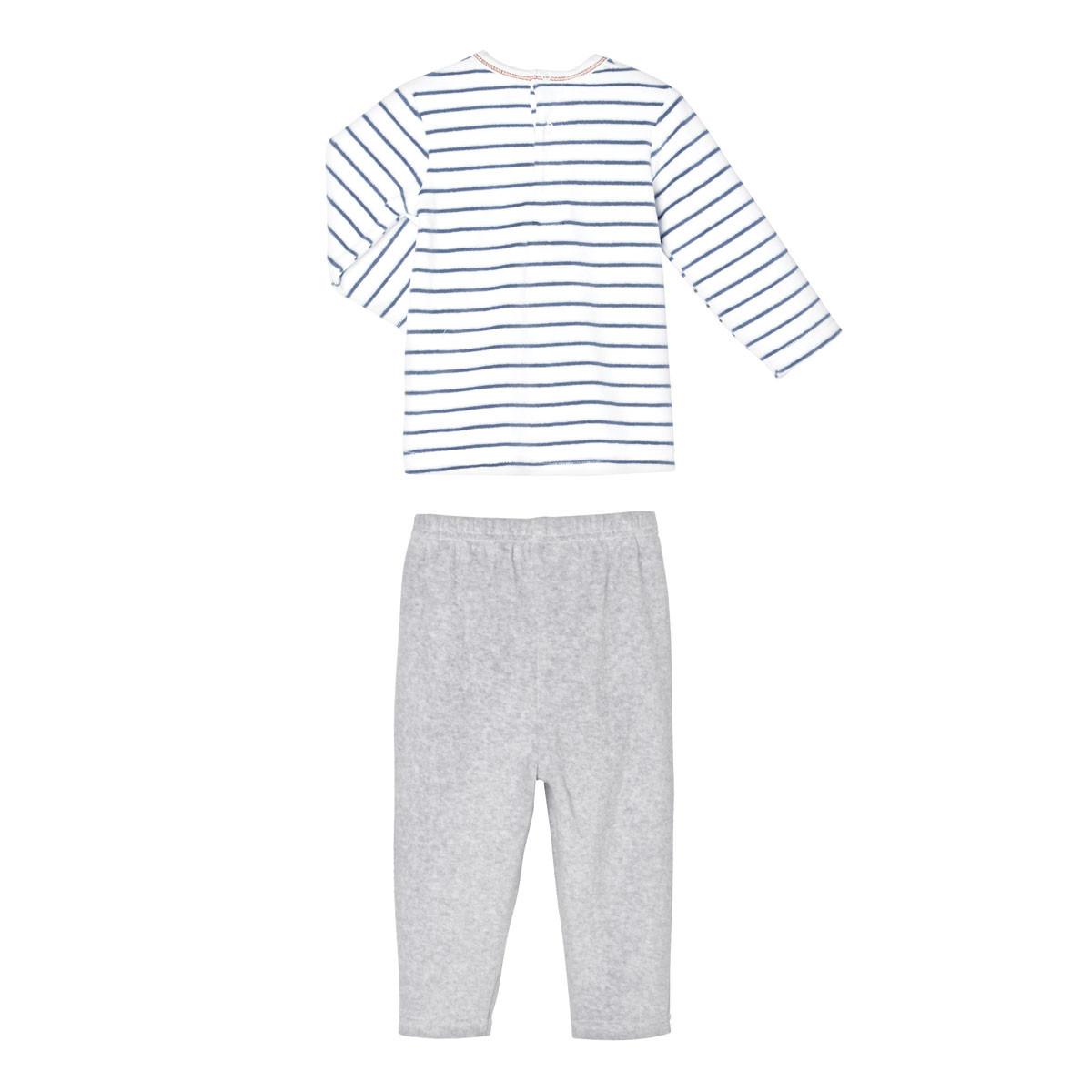 Pyjama bébé 2 pièces velours Oh My Dog dos