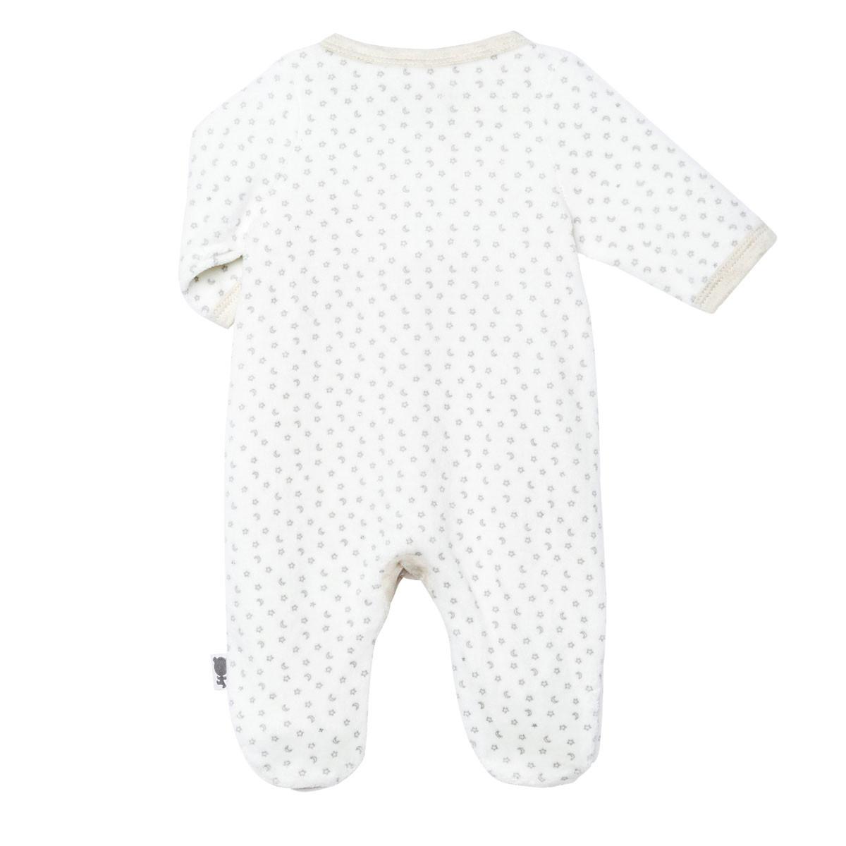 Pyjama bébé velours mixte Nuit Etoilée dos