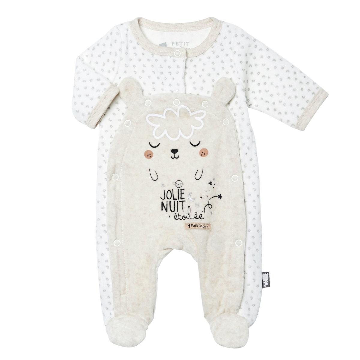 Pyjama bébé velours mixte Nuit Etoilée
