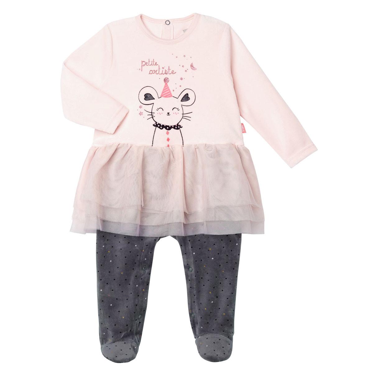 Pyjama bébé fille velours Circus Time