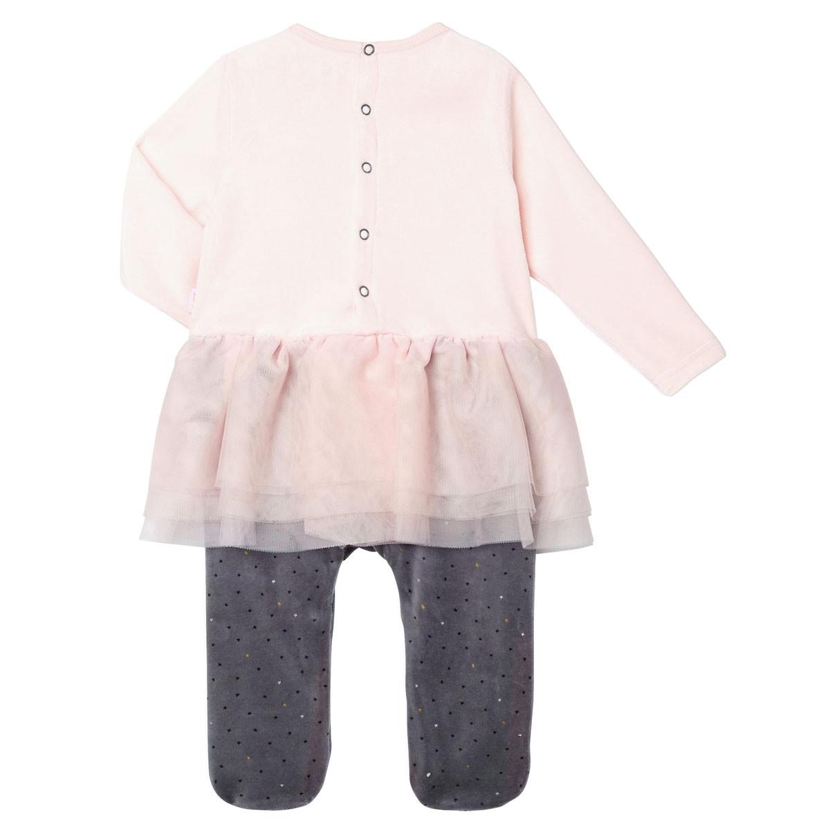 Pyjama bébé fille velours Circus Time dos
