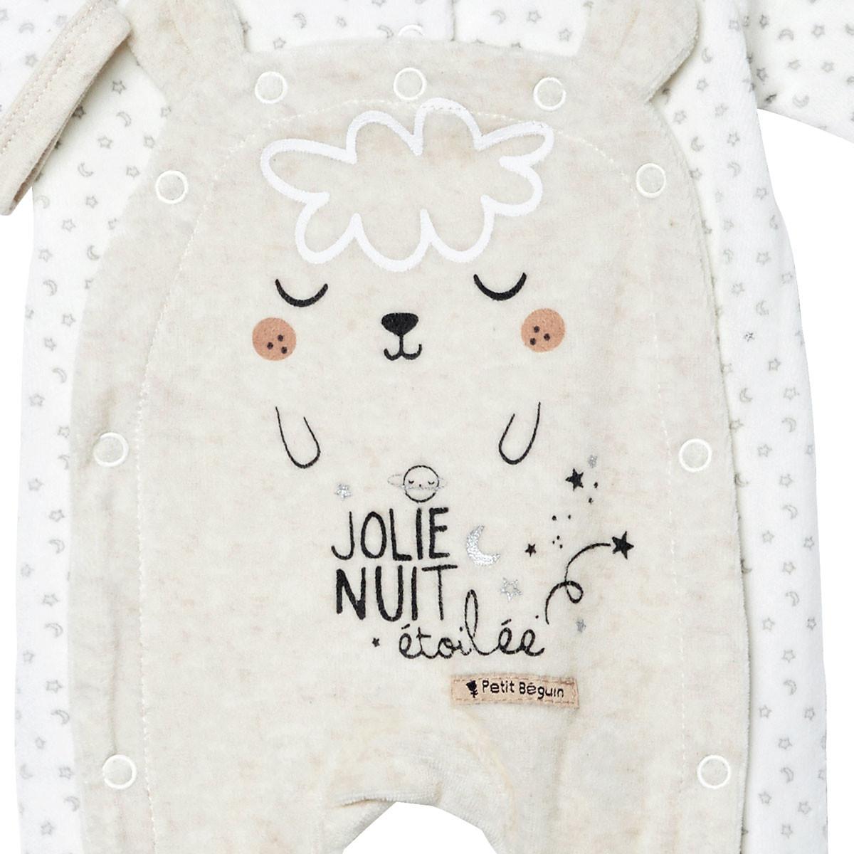 Pyjama bébé velours mixte Nuit Etoilée zoom