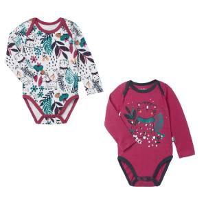 Lot de 2 bodies bébé fille manches longues Jungle Circus
