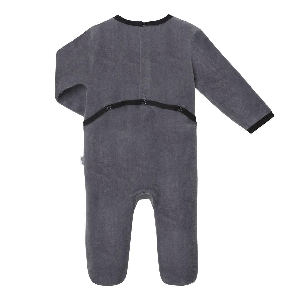 Pyjama bébé velours Etoile Ours dos