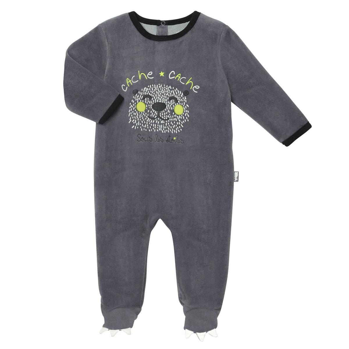 Pyjama bébé velours Etoile Ours