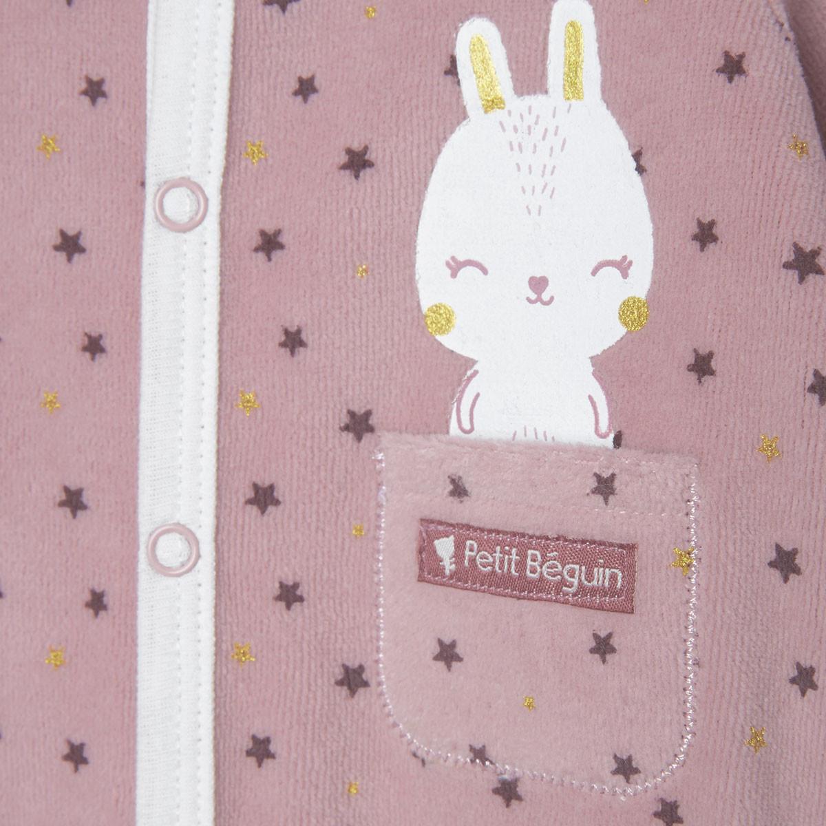 Pyjama bébé velours Lapinou zoom