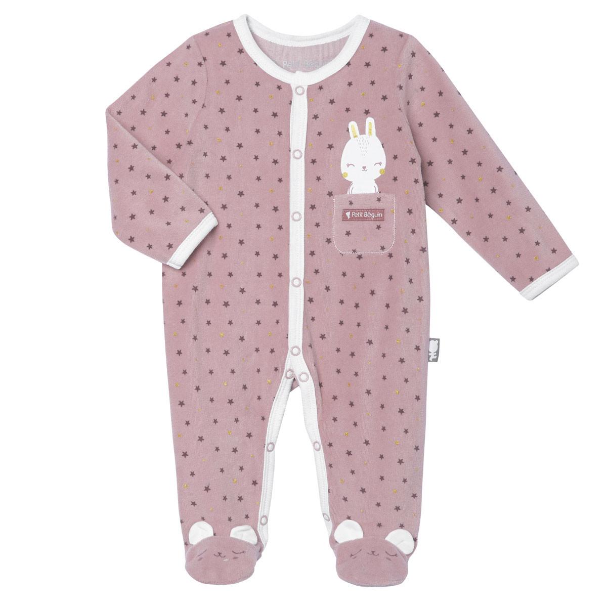 Pyjama bébé velours Lapinou