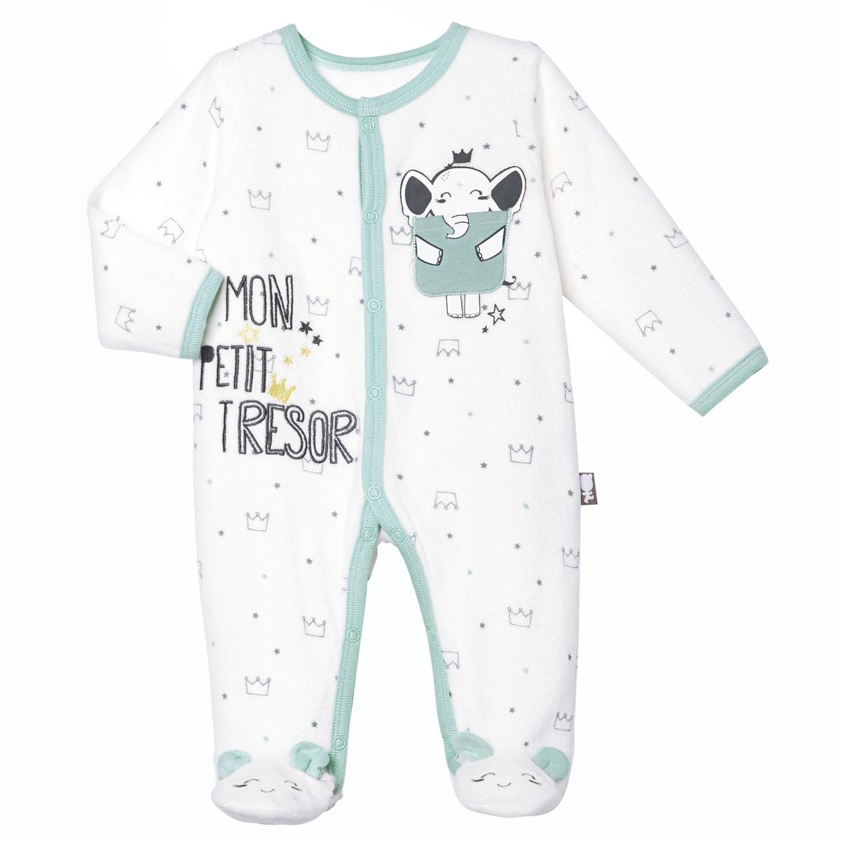 Pyjama bébé velours Petit Trésor
