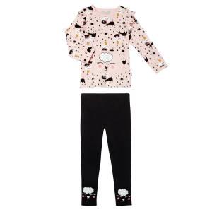 Pyjama fille manches longues Circus Party rose pâle