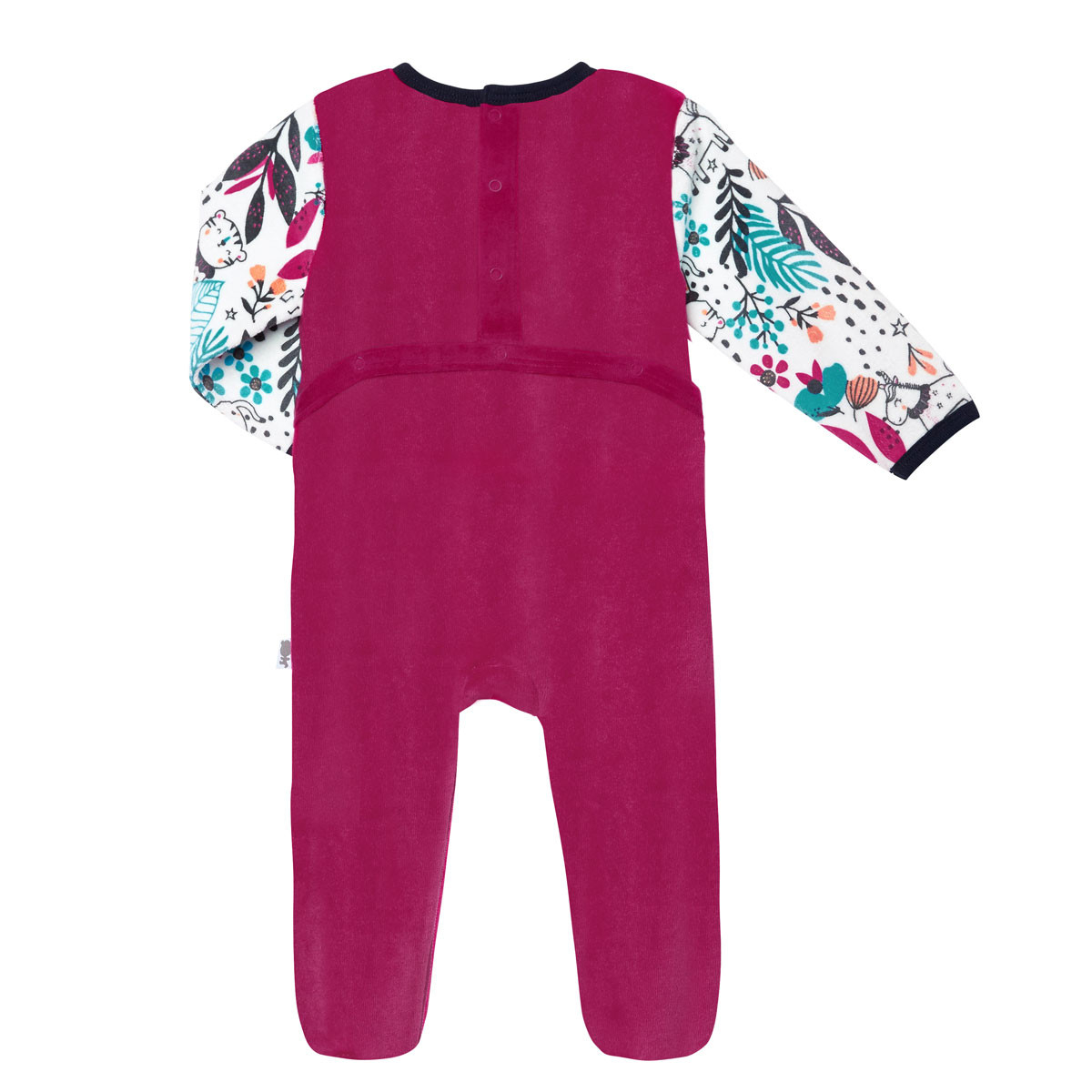 Pyjama bébé velours Jungle Circus dos