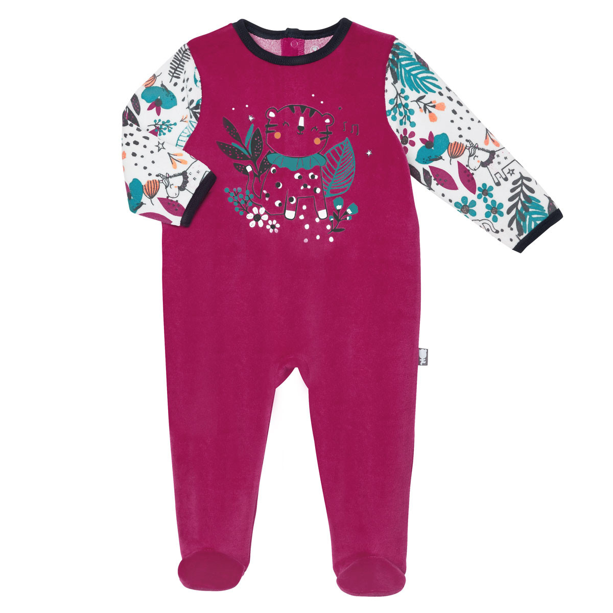 Pyjama bébé velours Jungle Circus