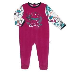 Pyjama b/éb/é 2 pi/èces avec pieds Gang Taille 74 cm 9 mois
