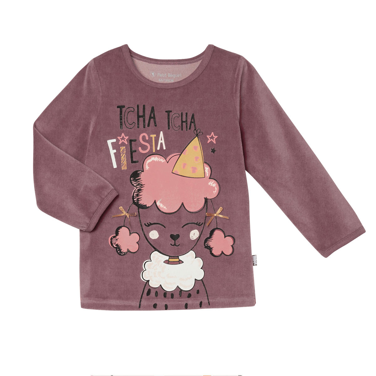 Pyjama fille manches longues Circus Party haut