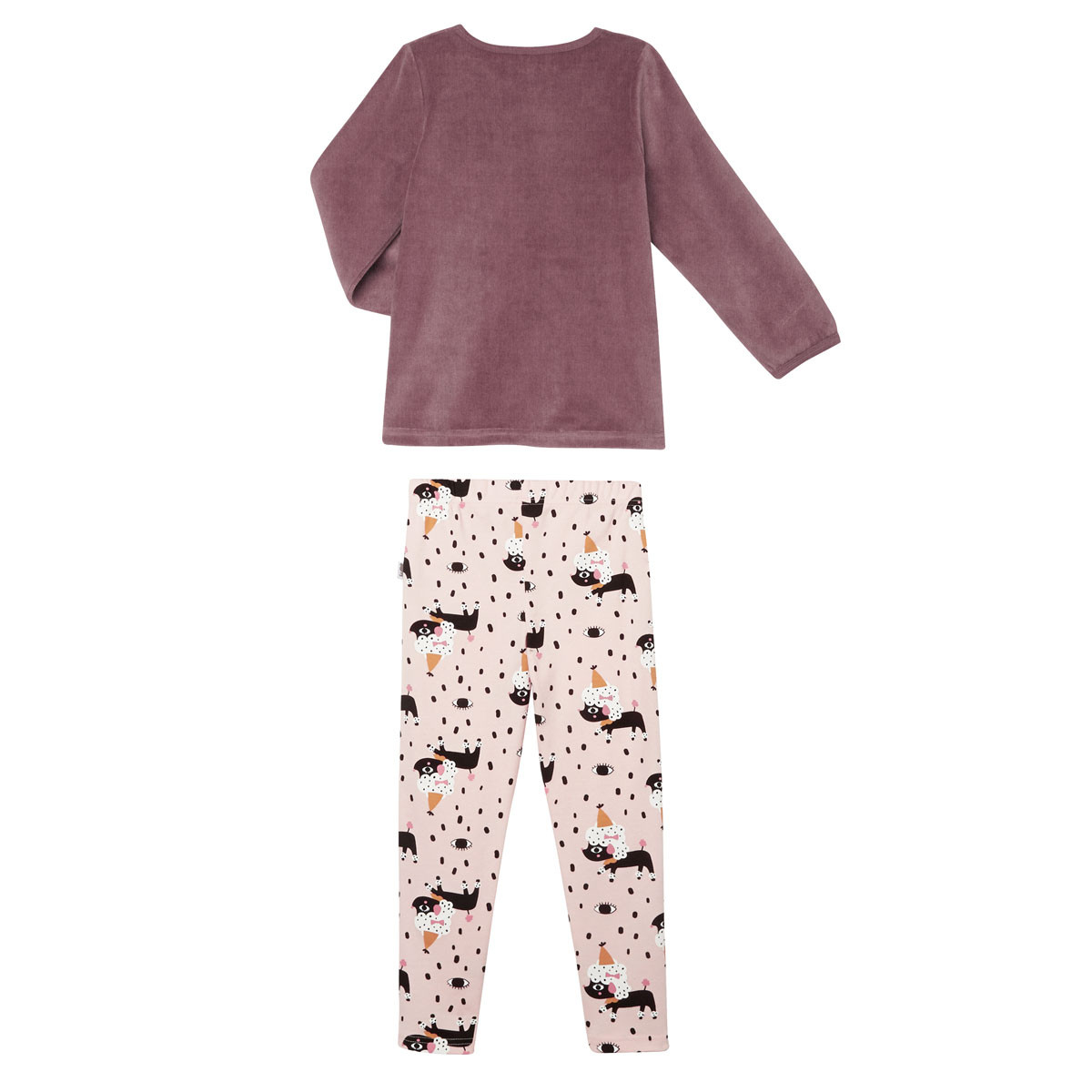 Pyjama fille manches longues Circus Party dos