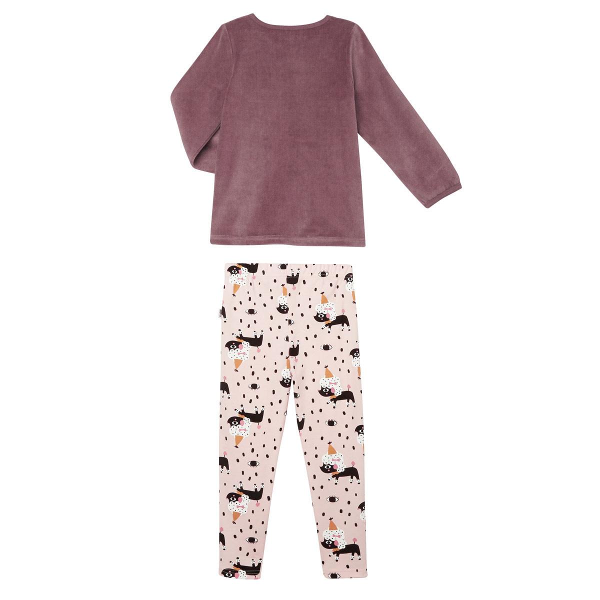 Lot de 2 pyjamas fille manches longues Circus Party dos
