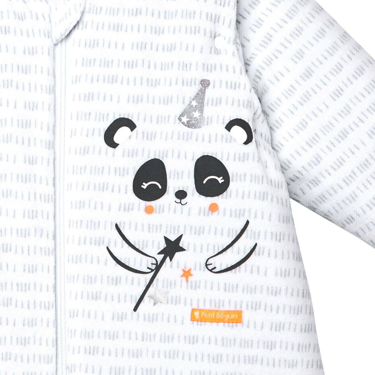 Turbulette d'hiver en velours manches amovibles Little Panda zoom 1