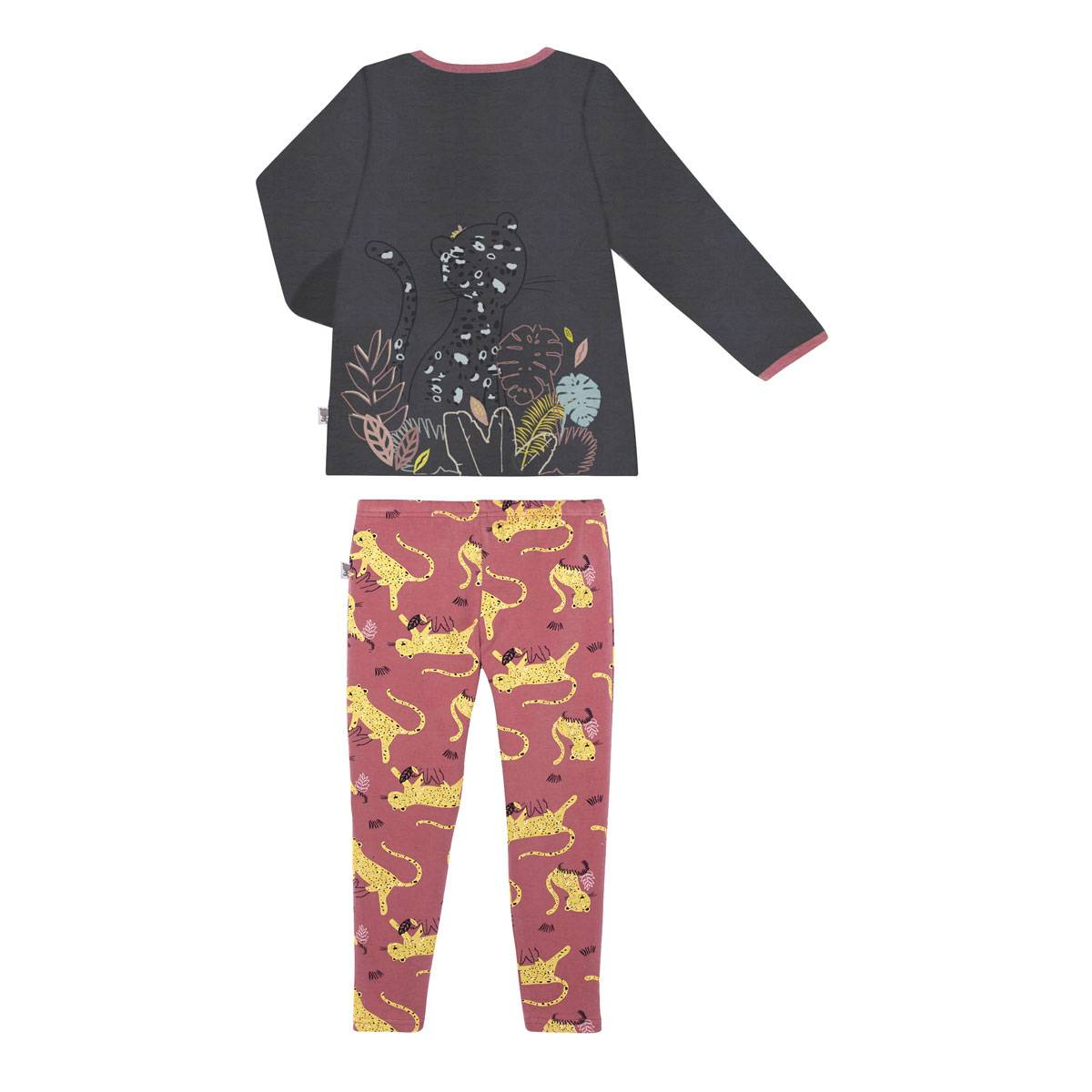 Pyjama fille manches longues Miss Tigresse dos