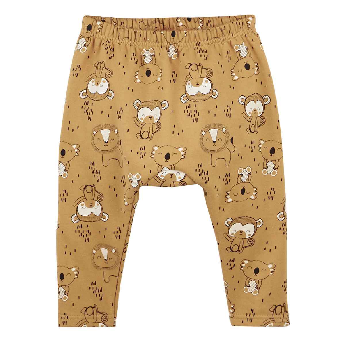 Ensemble bébé garçon en molleton Jungle - pantalon sarouel
