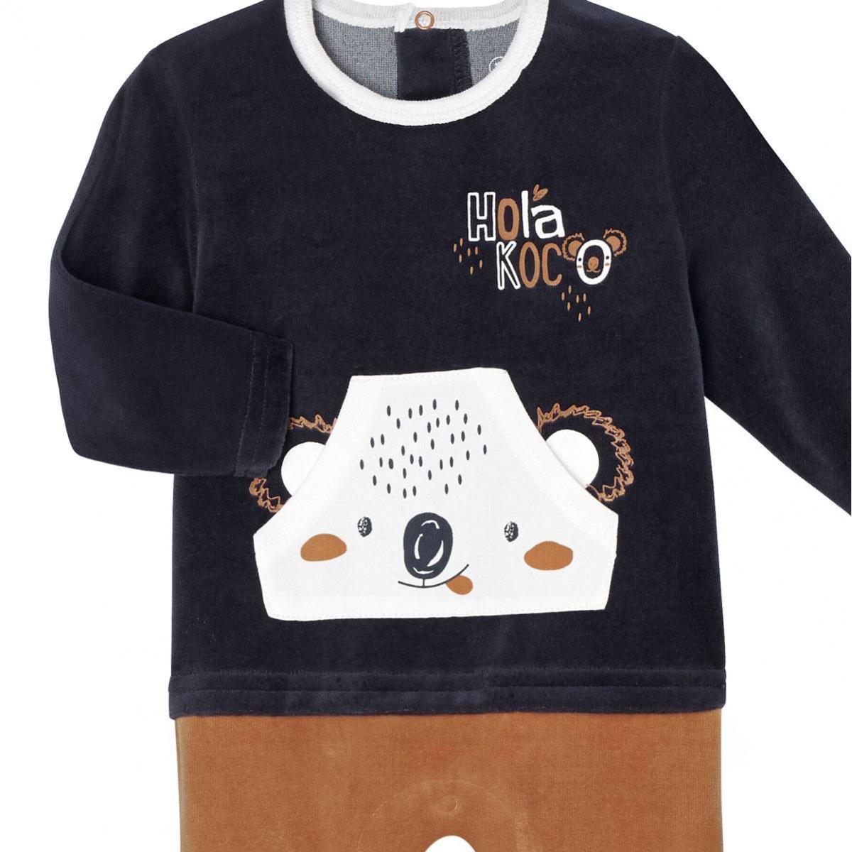 Pyjama bébé velours Hola Koco zoom