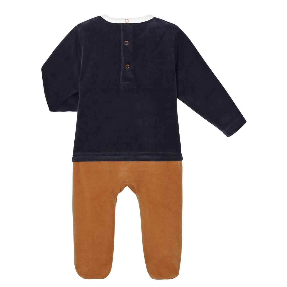 Pyjama bébé velours Hola Koco dos