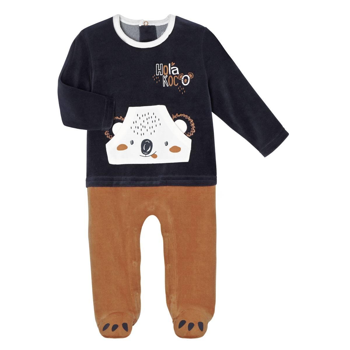 Pyjama bébé velours Hola Koco