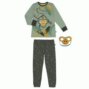 Pyjama garçon manches longues + masque Gorilla Jungle