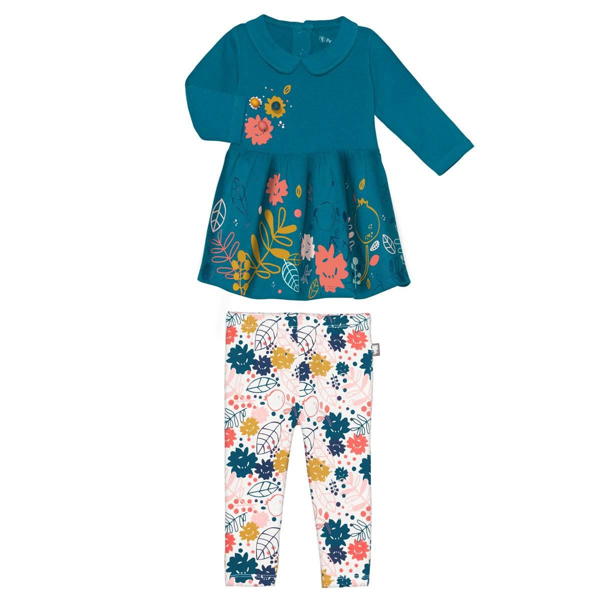 Robe + Legging bébé fille Lamapampa