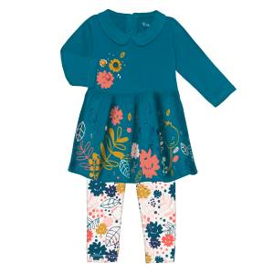 Robe + Legging bébé fille Lamapampa Ensemble