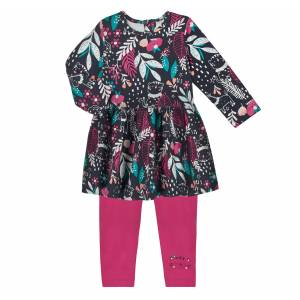 Robe + Legging bébé fille Jungle Circus Ensemble