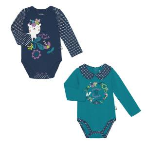 Lot de 2 bodies bébé fille manches longues Little Sweet