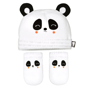 Bonnet + moufles anti-griffures bébé mixte Little Panda 0/3M