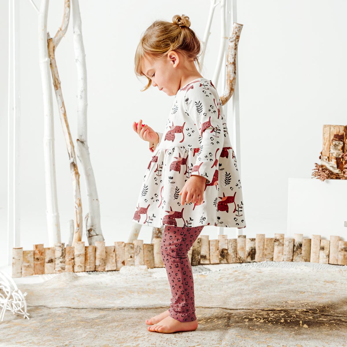 Robe en molleton + Legging bébé fille Léa