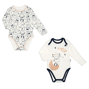 Lot de 2 bodies bébé fille manches longues Magic Night