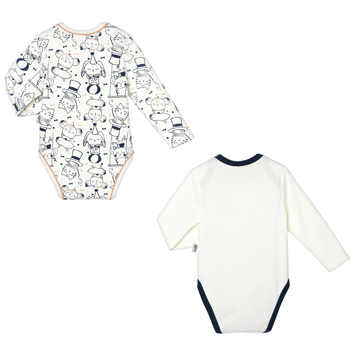 Lot de 2 bodies bébé fille manches longues Magic Night dos