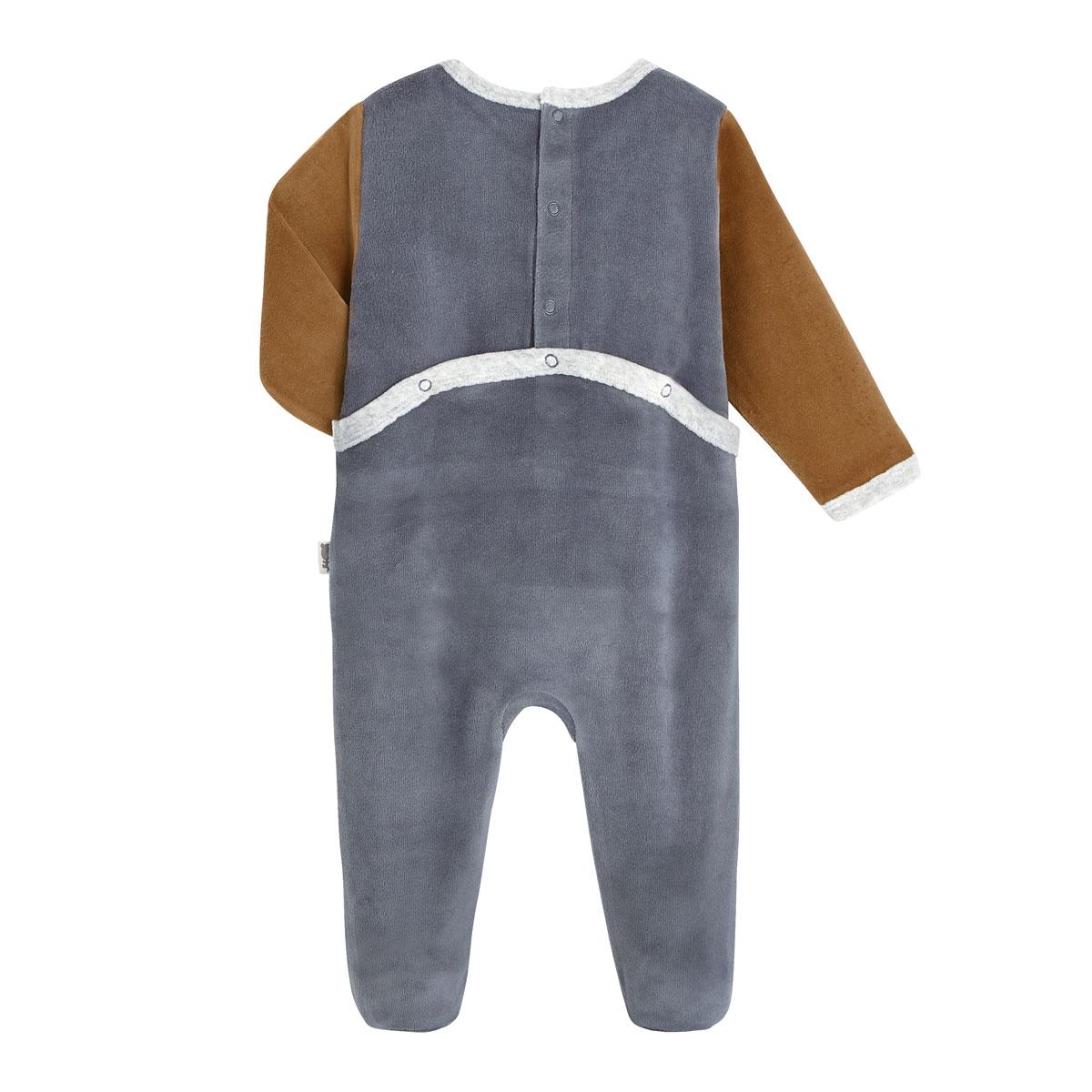 Pyjama bébé velours Bébé Grognon dos