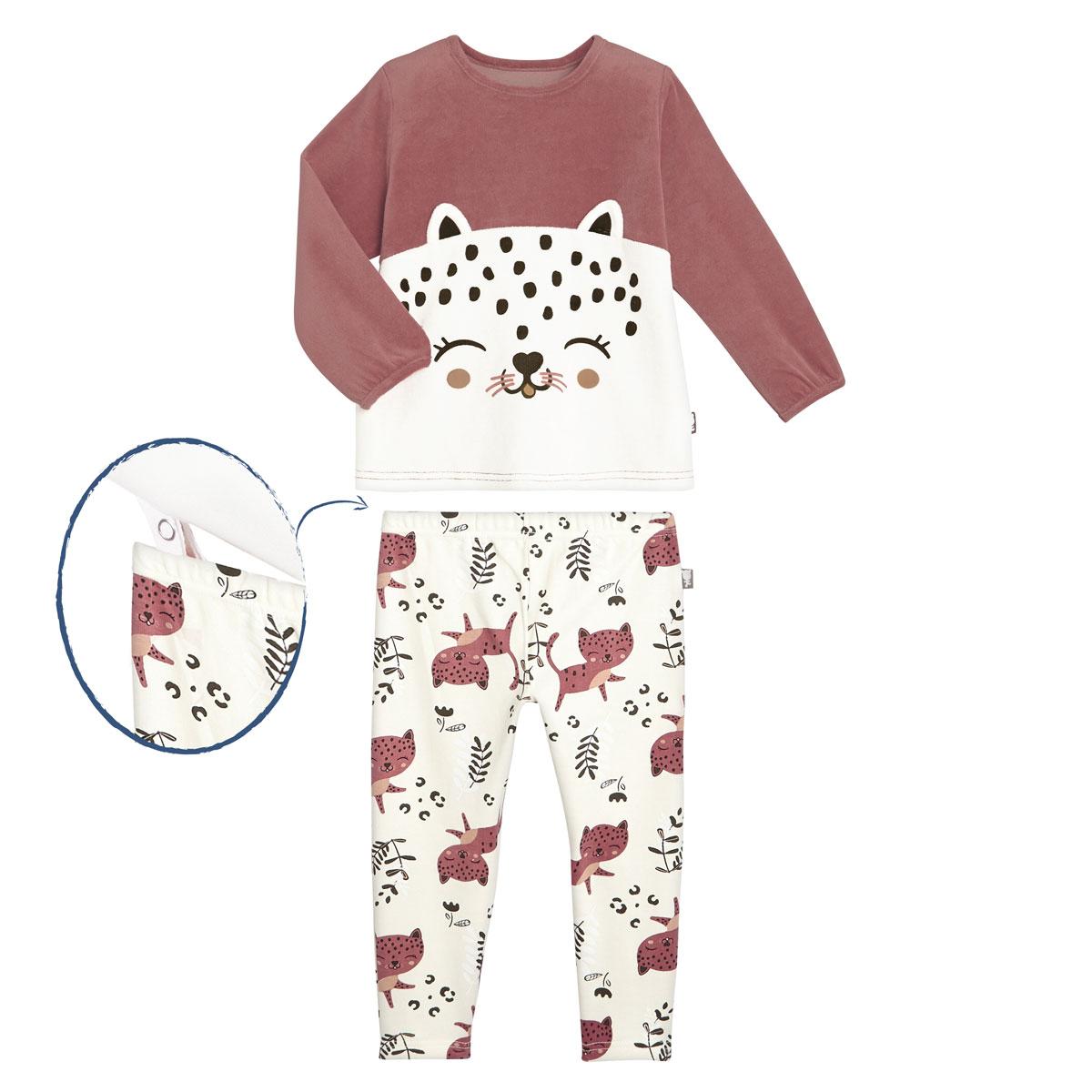 Pyjama fille manches longues Léa