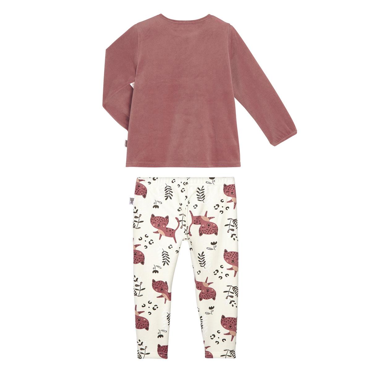 Pyjama fille manches longues Léa dos