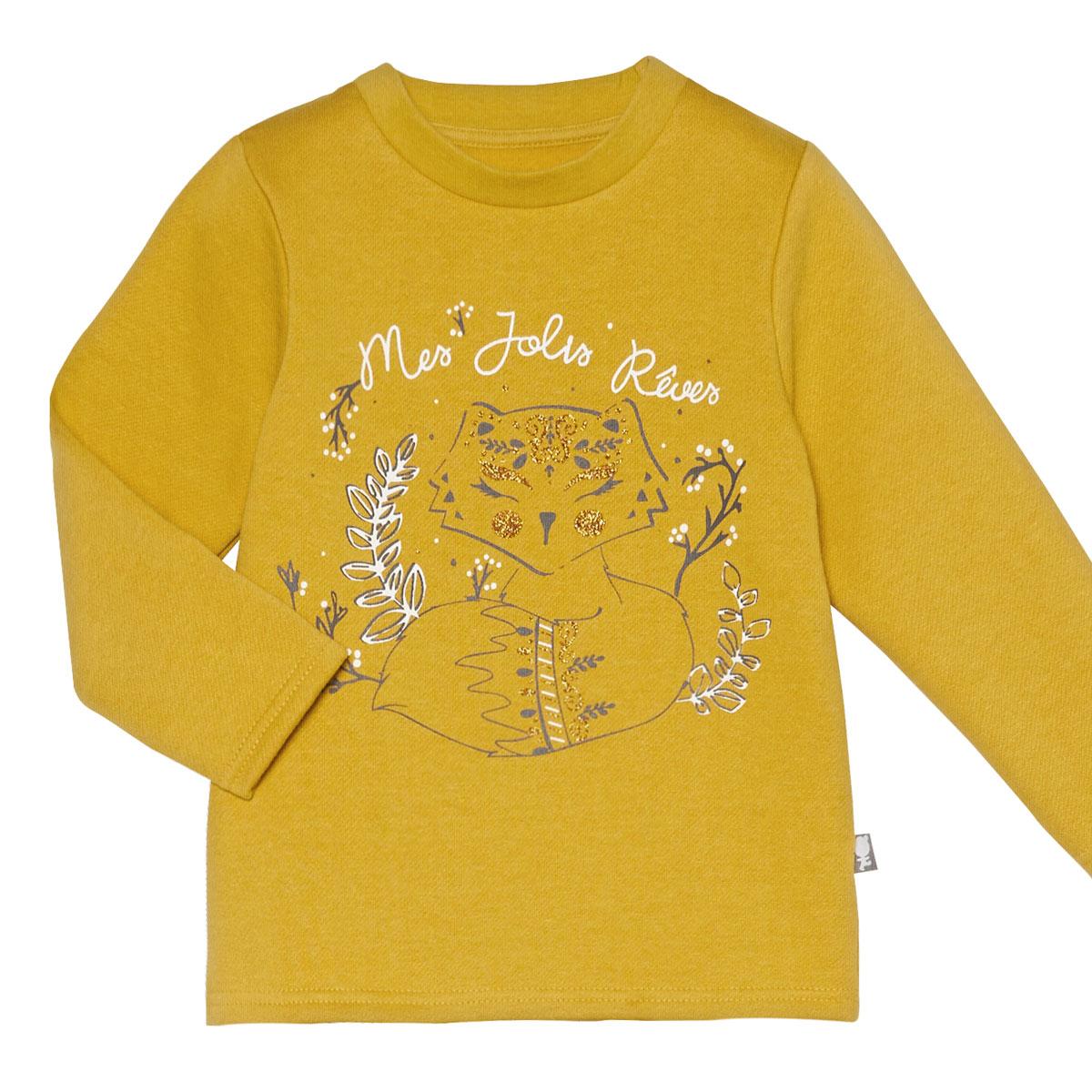 Pyjama fille manches longues  Little Foxy t-shirt à manches longues