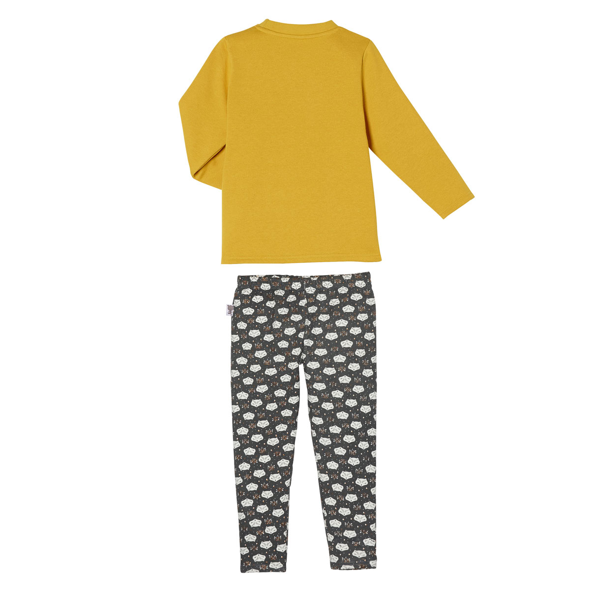 Pyjama fille manches longues  Little Foxy dos